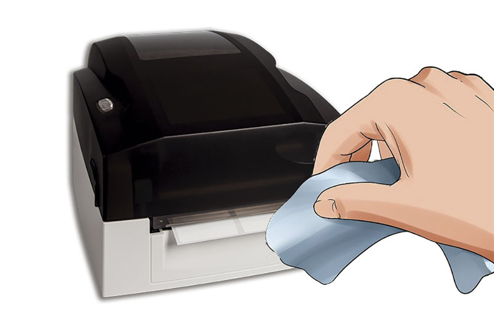 Como fazer a limpeza da cabeça de impressão de uma impressora térmica de etiquetas